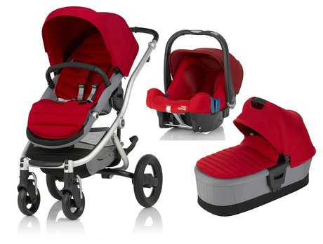 AFFINITY 2 Britax Römer incl. Colour Pack + capazo + portabebés Safe Plus SHR II Flame Red 2017 - Imagen grande
