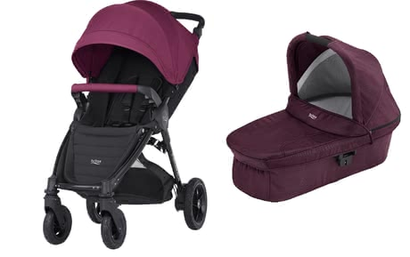 B-Agile 4 Plus Britax incl. Canopy Pack + capazo Hard Carrycot Wine Red 2017 - Imagen grande