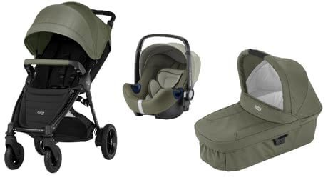 B-Motion 4 Plus Britax incl. Canopy Pack + capazo Hard Carrycot Olive Green 2017 - Imagen grande